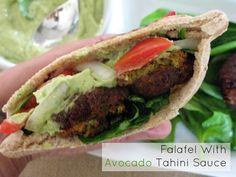 Falafel With Avocado Tahini Sauce