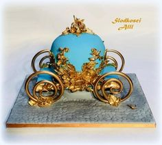 Cinderella Carriage Cake by Alll