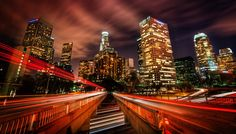 Here is a crazy spot I found thanks to sweet sweet Stuck On Earth. I've been to downtown LA many times, and there are many good angles, but I think this one is just about one of the best. - LA, California - Photo from #treyratcliff Trey Ratcliff at http://www.StuckInCustoms.com