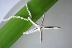 Starfish Beach Wedding sterling silver necklace by ChaninBijoux, $49.00