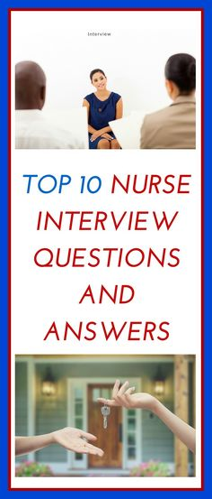 These are the top nurse interview questions and answers. These top nurse interview questions are from a recent poll asked of over new grad nurses on a pr Nursing Career, Travel Nursing, Nursing Tips, Nursing Programs, Nursing Resume, Nursing Notes, Rn Programs, Nursing Degree, Funny Nursing