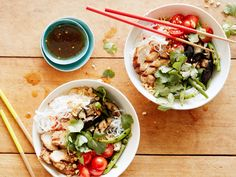 Grilled Hoisin Pork Chop Noodle Bowl recipe from Food Network Kitchen via Food Network