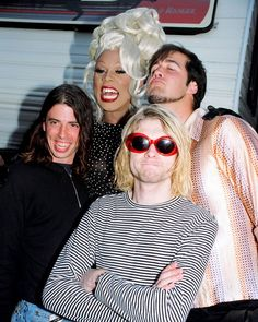 RuPaul with Nirvana at the 1993 MTV Video Music Awards / Photo by Jeff Kravtiz/FilmMagic, Inc.