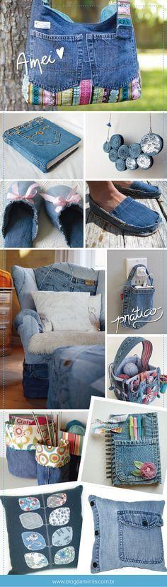 Ideas para reciclar pantalones vaqueros  Dicas para reciclar seu jeans velho
