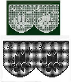 very pretty filet crochet candle and snowflake design edging or valance Crochet Curtains, Tapestry Crochet, Crochet Doilies, Thread Crochet, Crochet Stitches, Knit Crochet, Crochet Shawl, Free Crochet, Filet Crochet Charts
