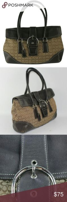 """Authentic Coach Purse """"6388 Beige, Brown Satchel BG # 3292702"""" Excellent condition. Well taken care of. No scratches. Size 15""""x 10""""x 4"""". All reasonable offers considered. Thanks for shopping my closet. Coach Bags Satchels"""