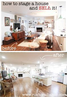 Trying to figure out how to sell a house? Make sure you take the time to stage your home! This is how to stage a house and sell it faster. Sell Your House Fast, Selling Your House, Home Staging Tips, Home Hacks, Decorating On A Budget, Home Decor Inspiration, Home Buying, Interior Design Living Room, Home Projects