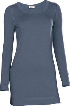 Longshirt Basic rauchblau I Qiero.de