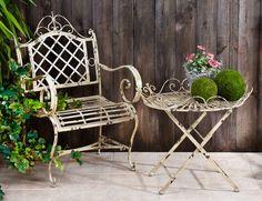 Iron Patio Furniture, Garden Furniture, Outdoor Furniture Sets, Vintage Furniture, Garden Table And Chairs, Patio Dining Chairs, Patio Table, Outdoor Seating, Outdoor Chairs