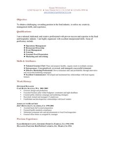 Food service, Resume and Student-centered resources on Pinterest