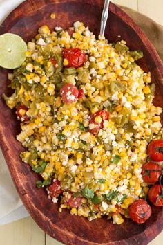 Hatch Green Chili Recipe, Green Chili Recipes, Corn Salad Recipes, Corn Salads, Vegetable Recipes, Mexican Food Recipes, Healthy Recipes, Hatch Chili, Hatch Chile Recipe