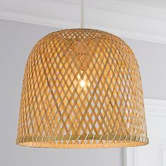 Leena Bamboo Easy Fit Pendant | Dunelm Bamboo Pendant Light, Bamboo Light, Lamp Shades, Light Shades, Bamboo Ceiling, Bamboo Lamps, Bamboo Care, Bamboo Shades, Flush Lighting