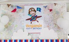 Boys Airplane Themed Birthday Party Backdrop Ideas