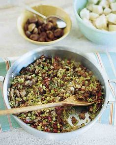 Porcini, Chestnut, and Sausage Stuffing