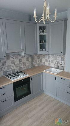 Grey Kitchen Designs, Kitchen Pantry Design, Modern Kitchen Design, Home Decor Kitchen, Kitchen Living, Rustic Kitchen, Interior Design Kitchen, Cuisines Design, Apartment Kitchen