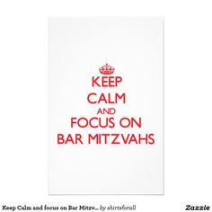 Keep Calm and focus on Bar Mitzvahs Stationery