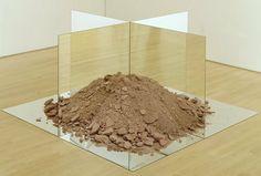 Robert Smithson essen soil and mirrors