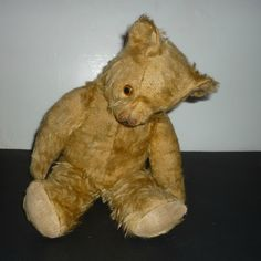 """SOLD - Pedigree Teddy Bear - Bobby - English- Mohair - 18"""" -1950's by DolllightedToMeetYou on Etsy #dolllighted #gotvintage"""