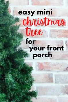 You'll want to make this cute mini Christmas tree for your outdoor Christmas decorations on a budget. Perfect quick Christmas tree for your living room or if you live in a small apartment. If you're looking to decorate for Christmas on a dime you'll love this cheap and easy Christmas tree