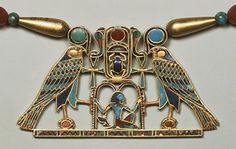 Pectoral of Princess Sit-Hathor-yunet (detail), Middle Kingdom, Dynasty reigns of Senwosret II–Amenemhat III, ca. From Lahun Gold Ancient History, Art History, Ancient Egyptian Jewelry, Egyptian Scarab, Egypt Jewelry, Egypt Art, Visit Egypt, Ancient Artifacts, Ancient Civilizations