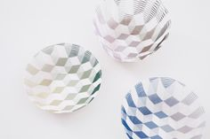 Kitchen Baskets - Free-forming Cube Patterned Bowls by Torafu Architects