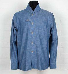 button Heritage Research Logger Shirt. Shirt Collar Styles, Mens Designer Shirts, Mens Trends, Baby Shirts, Vintage Denim, Stylish Men, Shirt Blouses, Shirt Style, Shirt Designs