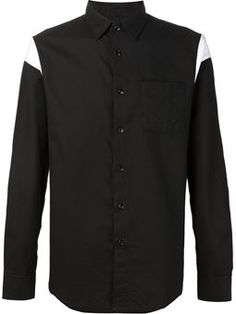 curved detail shirt
