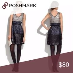 Madewell Broadway & Broome Colorblock Sequin Dress Colorblock sequin dress from Broadway & Broome at Madewell. Sleeveless dress, scoop neck and back, fitted at waist, and decorated with silver, navy, and black sequins. Lined. Dry clean.  Size 8. New with tags. Madewell Dresses Mini
