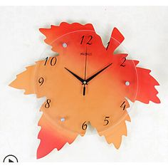 Reloj de pared - Vidrio/Madera - Moderno/Contemporáneo - Vidrio/Madera – EUR € 57.99