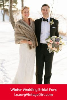 Are you getting married during one of the winter months? If so, you may be searching for inspiration for your wedding to ensure that it turns out as perfect as possible. There are some great winter wedding reception ideas to consider. These ideas could. Vintage Fur, Vintage Bridal, Vintage Glamour, Winter Wedding Fur, Winter Weddings, Wedding Venue Inspiration, Wedding Ideas, Bridal Shawl, Wraps