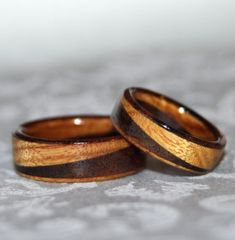 Items similar to Wooden Rings or Wedding Bands with Diagonal Design rings) Custom Made to Order on Etsy Wooden Wedding Bands, Wedding Bands For Him, Wedding Shit, Wedding Ideas, Wedding Stuff, Dream Wedding, Polymer Clay Ring, Handmade Polymer Clay, Ring Dish
