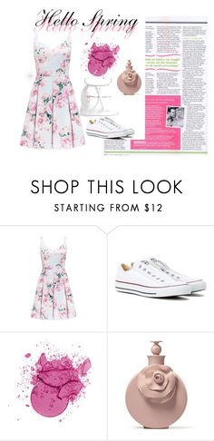 """""""Hello Spring"""" by dzeneta25 ❤ liked on Polyvore featuring Forever New, Converse and Boohoo"""