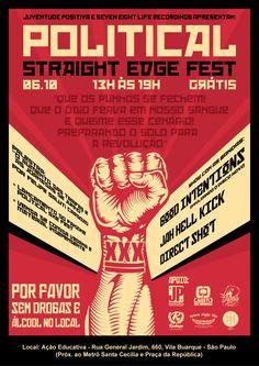 Political SxE Fest Flyer by GZÄS Romero, via Behance