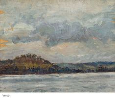 Arthur Lismer - Landscape x double sided Oil on board Oil, Artists, Landscape, Board, Painting, Artist, Painting Art, Paintings, Draw