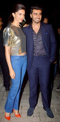 Deepika Padukone and Arjun Kapoor at screening of 'Finding Fanny'