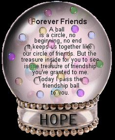 "Forever Friends snow globe....this is beautiful. I have friends, and they mean so very much to me. This one is from my first ""pinfriend"". Special."