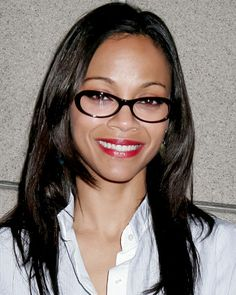 The Perfect Star-Inspired Glasses for You - Zoe Saldana in Oval Cat-Eyes from #InStyle