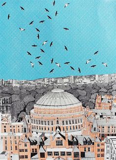 Find Rooftops at Royal Albert Hall by Clare Halifax online. Choose from thousands of contemporary artworks from exciting artists expertly-vetted by Rise Art's curators. Buy art online with confidence with free art advisory. Rise Art, Modern Oil Painting, Royal Albert Hall, Affordable Art Fair, Buy Art Online, Contemporary Artwork, Close Image, Great Places, New Art