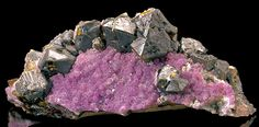 Sphalerite with Amethyst from Colorado by Exceptional Minerals