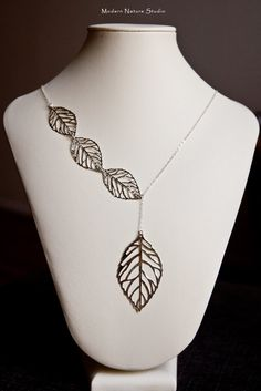 Falling Leaves Lariat Necklace. #leaves #suburban #fashion #stepford #wives #spring #bohemian #jewelry #necklace #fashion #style