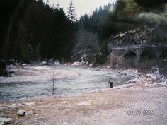 Dolomiten - DAMALS Zufahrt Gadertal - HEUTE mit einer Schnellstraße zugebaut