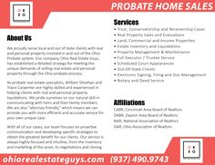 """Montgomery County Ohio Probate Process: If you have a piece of real estate property currently in probate court and would like to sell, please contact the """"Ohio Real Estate Guys"""" at (937) 490-9743"""