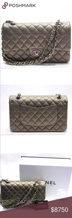 3fc1708ccece CHANEL BRONZE MERMAID MED. DOUBLE FLAP IRIDESCENT This stunning medium  double flap bag is a