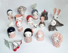 Nathalie Choux - Fans of cutesy arts and crafts will find these Nathalie Choux creations irresistible. Using ceramics, the talented artist sculpts oddball creations. Porcelain Clay, Ceramic Clay, Ceramic Pottery, Toy Art, Clay Dolls, Art Dolls, Clay Crafts, Arts And Crafts, Art Jouet