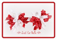 VALENTINE Red & White Swiss --  Korker Dog Bows. $9.00, via Etsy.