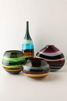 Handmade Murano Art-Glass Vessels by artist Caleb Siemon Glass Vessel, Glass Ceramic, Design Floral, E Design, Dale Chihuly, Murano Glass, Fused Glass, Art Nouveau, Glas Art