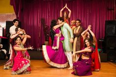 Kanika + Karan: Stylish Indian Wedding & Reception in Melbourne - Bridal party dance - Indian wedding - Indian bride to be - Indian groom to be - Sangeet - hot pink lengha Wedding Songs, Wedding Events, Wedding Reception, Indian Groom, Dance Videos, Indian Outfits, Dream Wedding, Wedding Photography, Bride