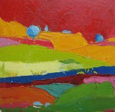 landscape with palette knife