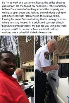 Cause you stole that truck and that shirt. Comcast hasn't reported it because they are too busy looking for Comcast wiring.