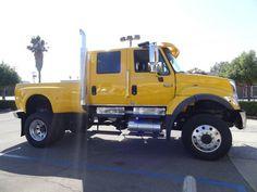 This is definitely one BIG BOY truck ready to roll: 2006 International CXT 7400 Rv Truck, Dually Trucks, Ford Pickup Trucks, Dodge Trucks, Diesel Trucks, Mini Trucks, Cool Trucks, Medium Duty Trucks, Truck Transport